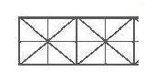"""Lastra di policarbonato trasparente A 5 PARETI ad """"X"""":"""